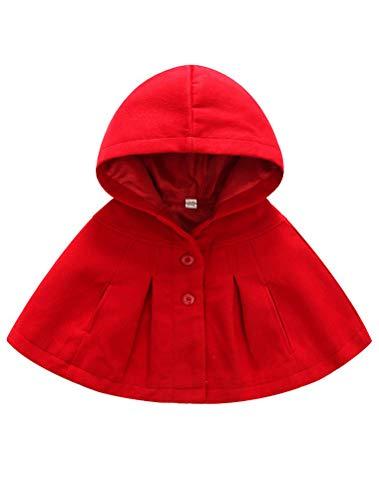 ARAUS Giacca del Mantello Cappotti Invernali da Neonata Vestiti Caldi Pesanti Bimba 0-36 Mesi