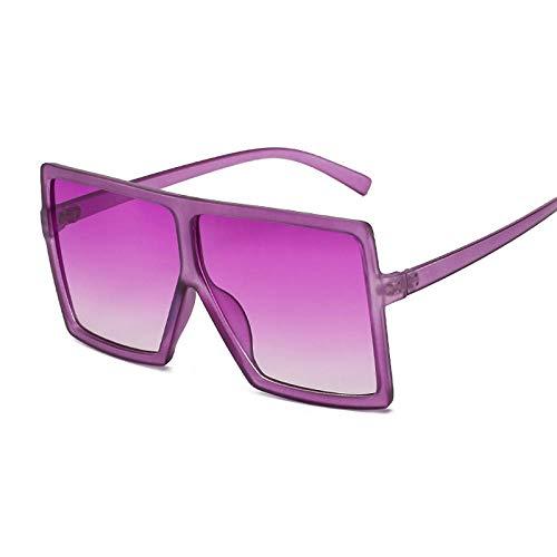 DLSM Gafas de Sol cuadradas Gafas de Sol con bisagras con bisagras de Metal con bisagras Retro Gafas de Sol Pesca de Caballo Pesca de Caballo