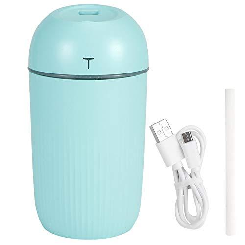 Humidificador de aire, Nano atomización Air Mist Maker Humidificador de escritorio inteligente, Mini carga USB para mujeres, niños, embarazadas, ancianos(green)