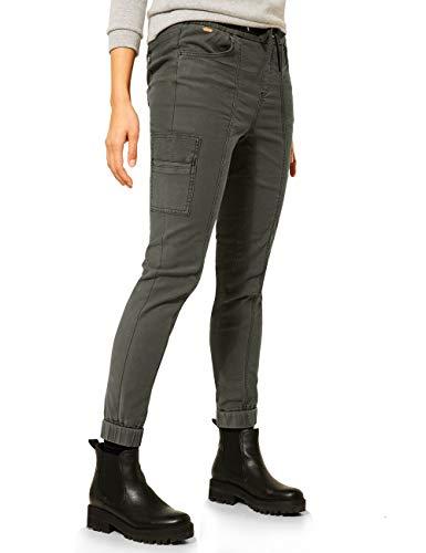 Street One Damen 373817 Style Denim-Bonny,Loosefit,mw,Leg,Color Jeans, Dark Pistachio Soft wash, W30/L30