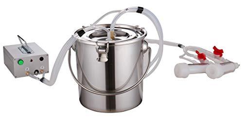 Milking Machine for Goats(7 Gifts),Pulsation Vacuum Pump Sheep Milker.Food-Grade Automatic 7L Goat Milking Machine,US Standard.(7L, Goat)