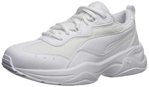 PUMA Cilia - Sneaker da donna, bianco (Puma Bianco-grigio Violet-puma Argento), 41 EU