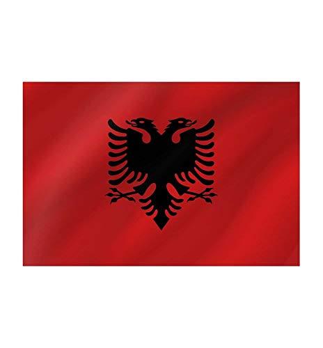 R&F srls Bandiera Albania Nazionale Tessuto Misura Standard 90 X 150 cm