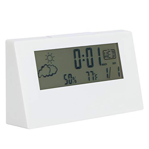 Pssopp Reloj Despertador Digital LED Reloj Despertador electrónico Calendario Transparente de Fecha y Temperatura para la decoración del hogar de la Sala de Estar del Dormitorio