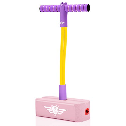 Gifts for 3-12 Year Old Boys Girls, Foam Pogo Jumper for Kids Fun Toys for Kids 5-7 Pogo Stick for Kids Cool Toys for Autistic Fun Sports Games for Kids Christmas 2020 Presents for Girls, Pink