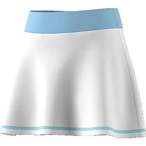 adidas Mädchen Parley Tennisrock, White/Easy Blue, 140
