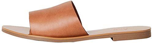 Marca Amazon - FIND Flat Simple Mule Sandalias Abiertas, Beige (Tan), 39 EU