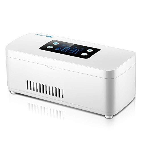 Sebasty Buena Medicina Mini Refrigerador Y refrigerador de la insulina for el Coche, Viajes, Hogar - Refrigeración portátil Coche Caja de la Caja de Viaje/Pequeño for la medicación