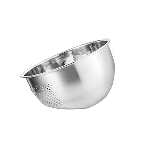 JIANGAA Waschen von Fruit Drain Basket Edelstahl Waschbecken Teller Korb Reis Waschmaschine Waschreis Ricesieb