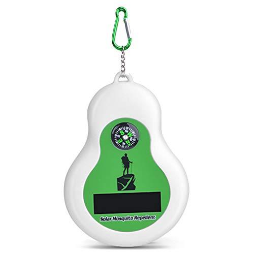 Gosear Portable Solaire à ultrasons Anti-moustiques répulsif Anti-Moustique répulsif avec Boussole pour Le Voyage en Plein air Camping randonnée