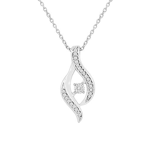 0.229 Carat IGI Certified Dancing Diamond Pendant Necklace for Women in 925 Sterling Silver (H-I Color, SI2-I1 Clarity)