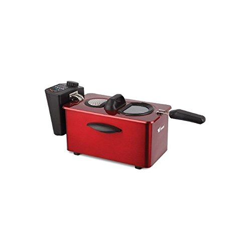 Freidora electrica 3,50 lts Thulos Aceite Freidora Acero Rojo 2000W 3,5 litros