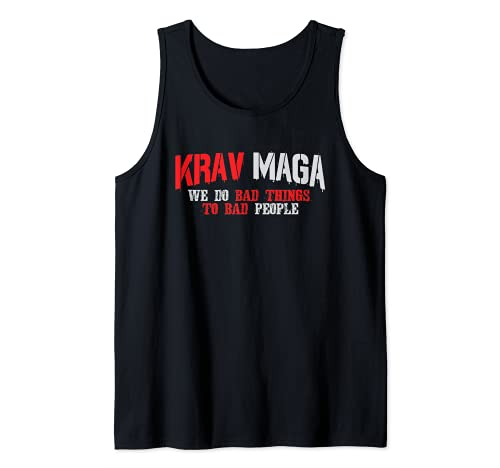 We Do Bad Things To Bad People Krav Maga Camiseta sin Mangas