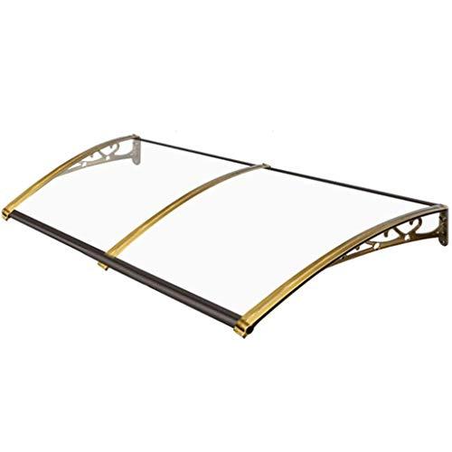 YJKDM Toldo/marquesina, Soporte de aleación de Aluminio/Tablero de PC Transparente Mudo, Adecuado para Puerta de Entrada, Aire Acondicionado, balcón (Personalizable)