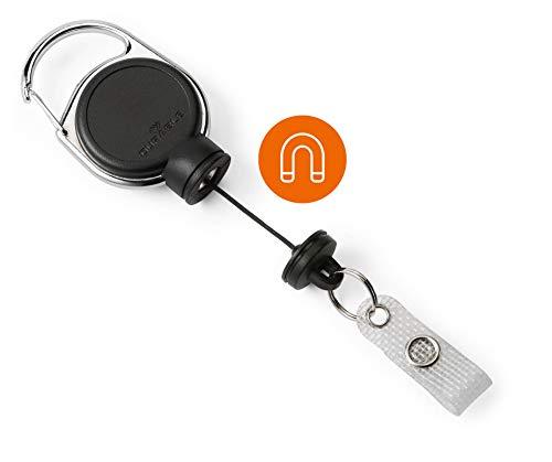 Durable 832901 Jojo für schwere Kartenhalter oder Schlüssel bis 300g, 1 Stück, schwarz