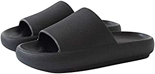 Slippers for Women and Men Quick Drying Slide Sandal with Thick Sole Non-Slip Soft Shower Slippers Open Toe Spa Bath Pool ...