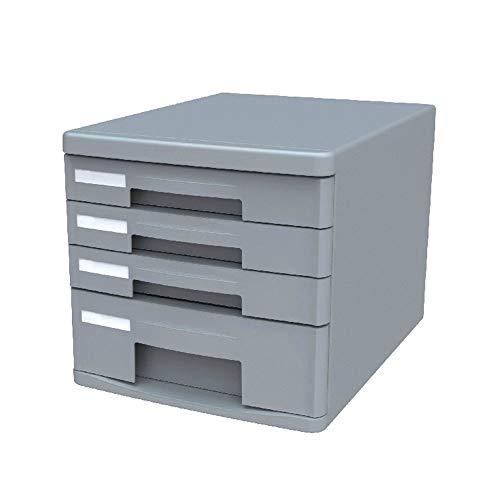 Speichermodul Desktop File Cabinet Data Storage Cabinet Index Label Design Aktenschrank Kunststoff Schublade Office 4 Ebenen Aktenaufbewahrungsbehälter ohne Schleuse für Büro, Home Office