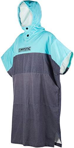 Mystic Regular Poncho oder Wickelhandtuch für Strandwassersport und Surfen - Change Robe Mint - Große Kapuze