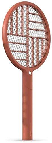 Guoc Tapette à Mouches électrique Pliable 2 en 1 1200mAh - Raquette de Tennis Rechargeable avec Filet de sécurité et Lampe de Poche intégrée - Tue Les Insectes,Les moustiques