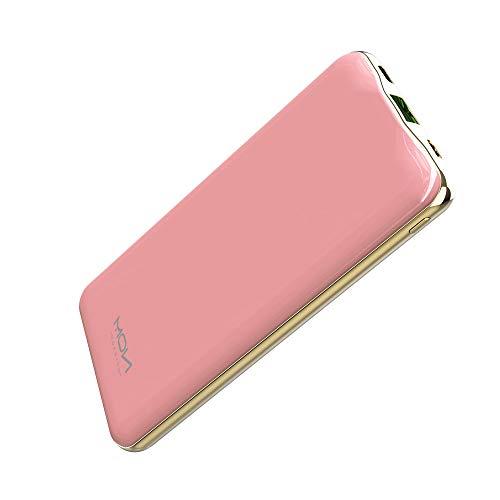 MOXNICE Powerbank 10000mAh Power Bank QC3.0, Power Delivery 22.5 W USB C Batteria Esterna Caricabatterie Portatile per Smartphone e Tablet (Rosa)