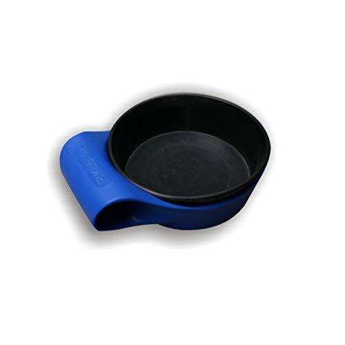DEWEPRO Gipsbecher - Anrührbecher - Anrührschale - 2-tlg. mit Tragehalterung aus stabilem Kunststoff - Inhalt: ca. 0,5l - Höhe: 45mm - ø=145mm