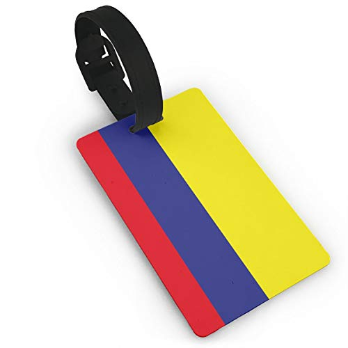 SHARP-Q Columbia Flag Fashion Luggage Tags For Suitcases PVC Baggage Cards
