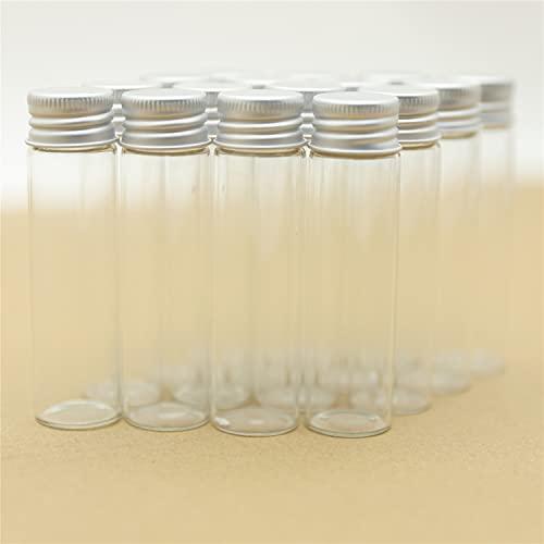 NLLeZ 24 Piezas 20 ml 22 * 80mm Botellas de Vidrio minúsculas Botellas de Almacenamiento y frascos Frascos de Vidrio Frascos Mini contenedores Botellas pequeñas