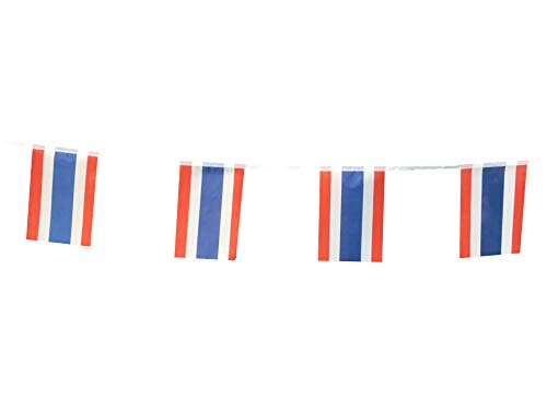 Thailand Flags Thai Small String Flag Banner Mini National Country World Flags Pennant Banners For Party Events Classroom Garden Olympics Festival Grand Opening Bar Sports Clubs Decorations (Thailand)