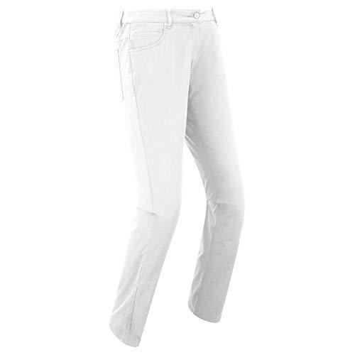 Footjoy 94186XL-REG Lange Golfhose, Damen, weiß, XL-Reg