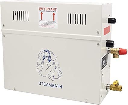 CGOLDENWALL 3KW Generatore di vapore Doccia Sauna Bagno Casa Spa Bagno a vapore Generatore Adatto per 3 m³ Riscaldamento Ambiente con Controllo Display Digitale