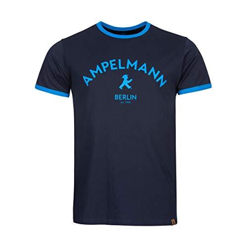 AMPELMANN Poserboy - T-Shirt Herren - in Dunkelblau aus 100% Bio Baumwolle (XL)