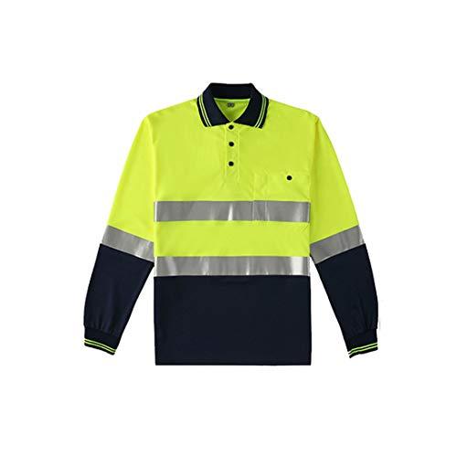 Chaleco reflectante: camiseta reflectante Manga larga, hombres y mujeres que trabajan en la calle, personal administrativo, ropa reflectante, tráfico, ropa de seguridad vial (selección de tallas múlti