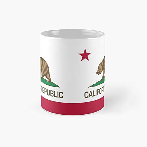 California Republic State Flag Classic Mug Best Gift Funny Coffee Mugs 11 Oz