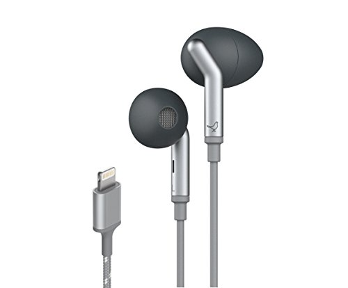 Libratone Lightning in-Ear Active Noise Cancelling Earbuds, MFi Certified Headphones Compatible with All iPhone and ipad Model (Including iPhone 11), Premium Stereo Sound, IPX5 Waterproof(Black)