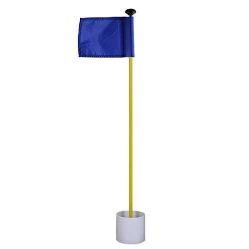 Sale!! MarketBoss 33 Backyard Practice Golf Green Flag FlagStick Pin with Hole Pole Cup Golf Puttin...