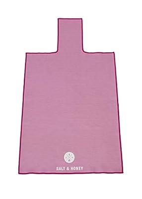Salt & Honey Non-Slip Pilates Reformer Mat Towel (Pink)