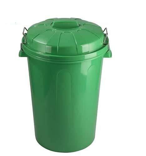 CABLEPELADO Cubo Basura plastico Comunidad con Tapa 100 litros Verde