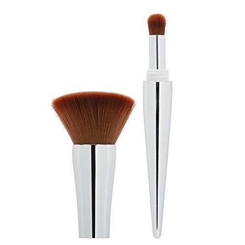 JULYKAI Pinceau cosmétique, Pinceau de Maquillage, Pinceau Fard à Joues, Outil de Maquillage Multifonctionnel pour kit de Pinceau Domestique pour Artiste(Silver)