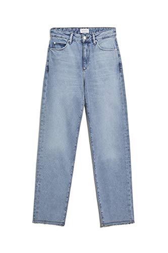 ARMEDANGELS dames Straight Fit Mid Waist - FJELLAA Cropped - 100% katoen (bi) denims / 5 zakken Straight