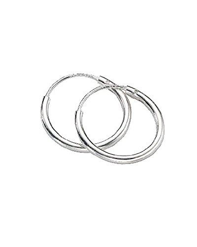 iJewelry2 continua, piccolo cerchio Revoni-Orecchini in argento Sterling, 12 mm