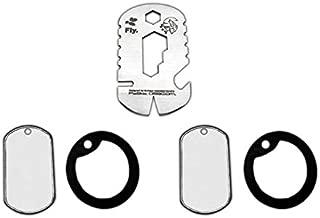 Collar Dog-Tag Fly multiherramientas J&V con Hoja de 1,5mm, Herramienta de Camping para Pesca, Caza, Actividad Deportiva