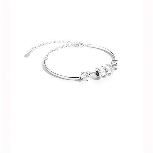 MxZas Liefde zonder einde van de vriendschap persoonlijkheid S925 sterling zilver kleine armband vrouwelijk non-design voor het verzenden van uw vriendin sieraden zirkonia armband