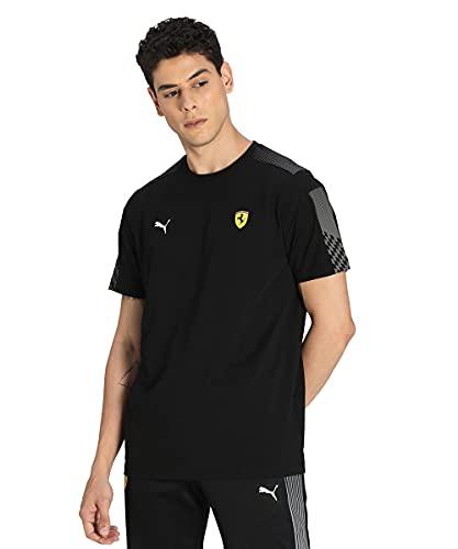 PUMA Herren Ferrari Race T7 Tee T-Shirt, schwarz, XXL