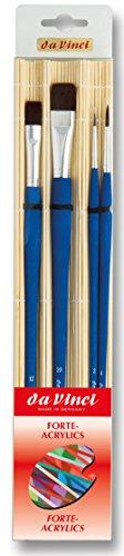 Da Vinci pinceles Set en bambú fuerte 53254piezas serie acrílico