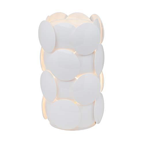 Brilliant Status Lampe de table en plastique Blanc 35 cm 60 W