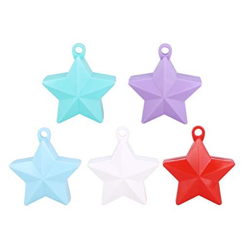 Toyvian 5 Piezas Globo Cadena Colgante Pesas Globo en Forma de Estrella Colgante Colgante Globo Accesorios para Cumpleaños Boda Fiesta Día de San Valentín