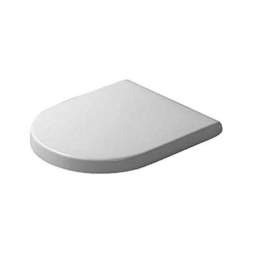 Duravit 63890000 Starck 3 - Asiento de inodoro con tapa (bisagras de acero inoxidable, bajada amortiguada), color blanco