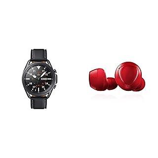 Samsung Galaxy Watch 3 (45mm, GPS, Bluetooth) Smart Watch - Mystic Black (US Version) with Samsung Galaxy Buds+ Plus, True Wireless Earbuds, Red – US Version (B08P4WQ2LT) | Amazon price tracker / tracking, Amazon price history charts, Amazon price watches, Amazon price drop alerts