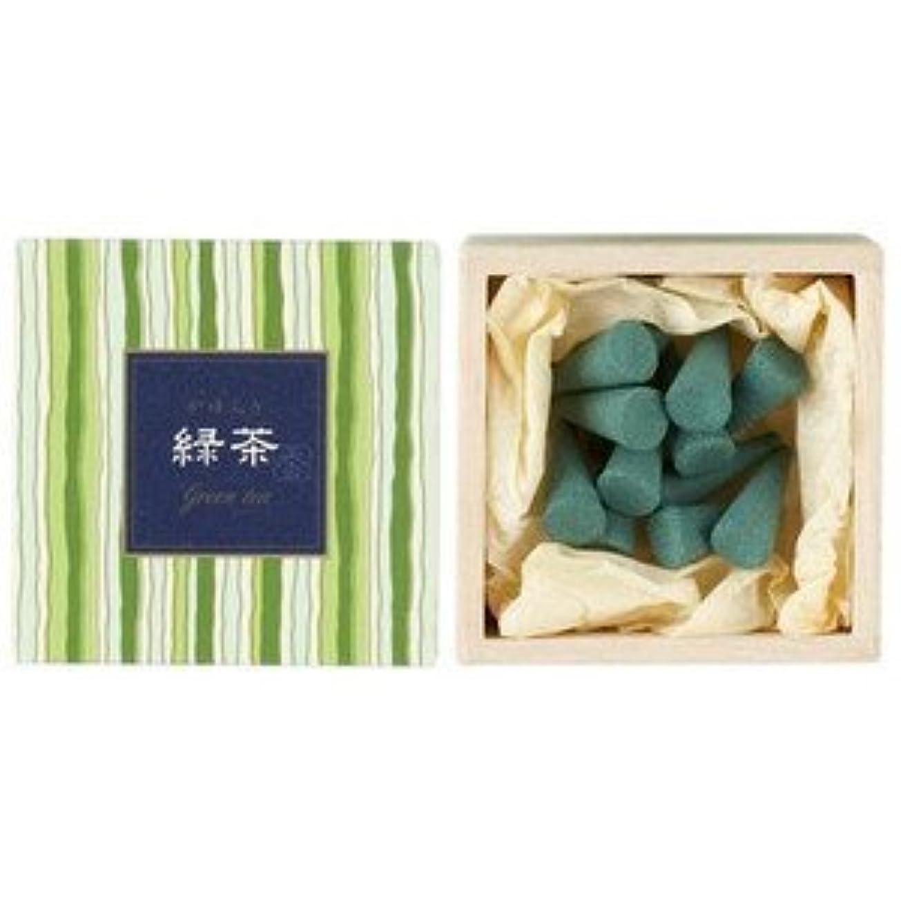 四回副コスチューム日本香堂 かゆらぎコーン 緑茶