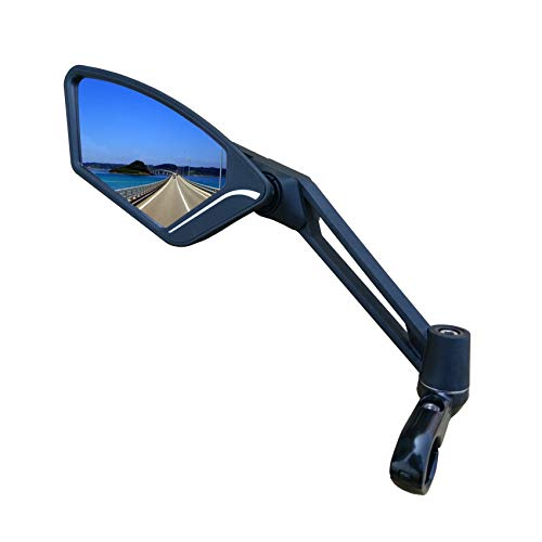 MEACHOW New Scratch Resistant Glass Lens,Handlebar Bike Mirror, Adjustable Safe Rearview...
